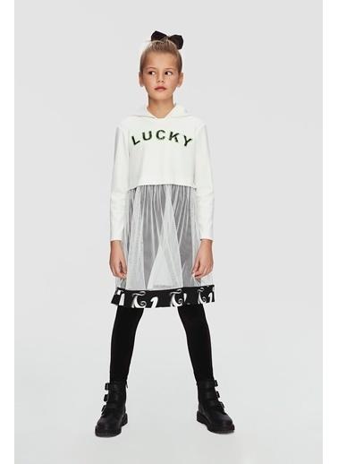 Lia Lea Kız Çocuk Beyaz Elbise 20Fwll01735 Beyaz